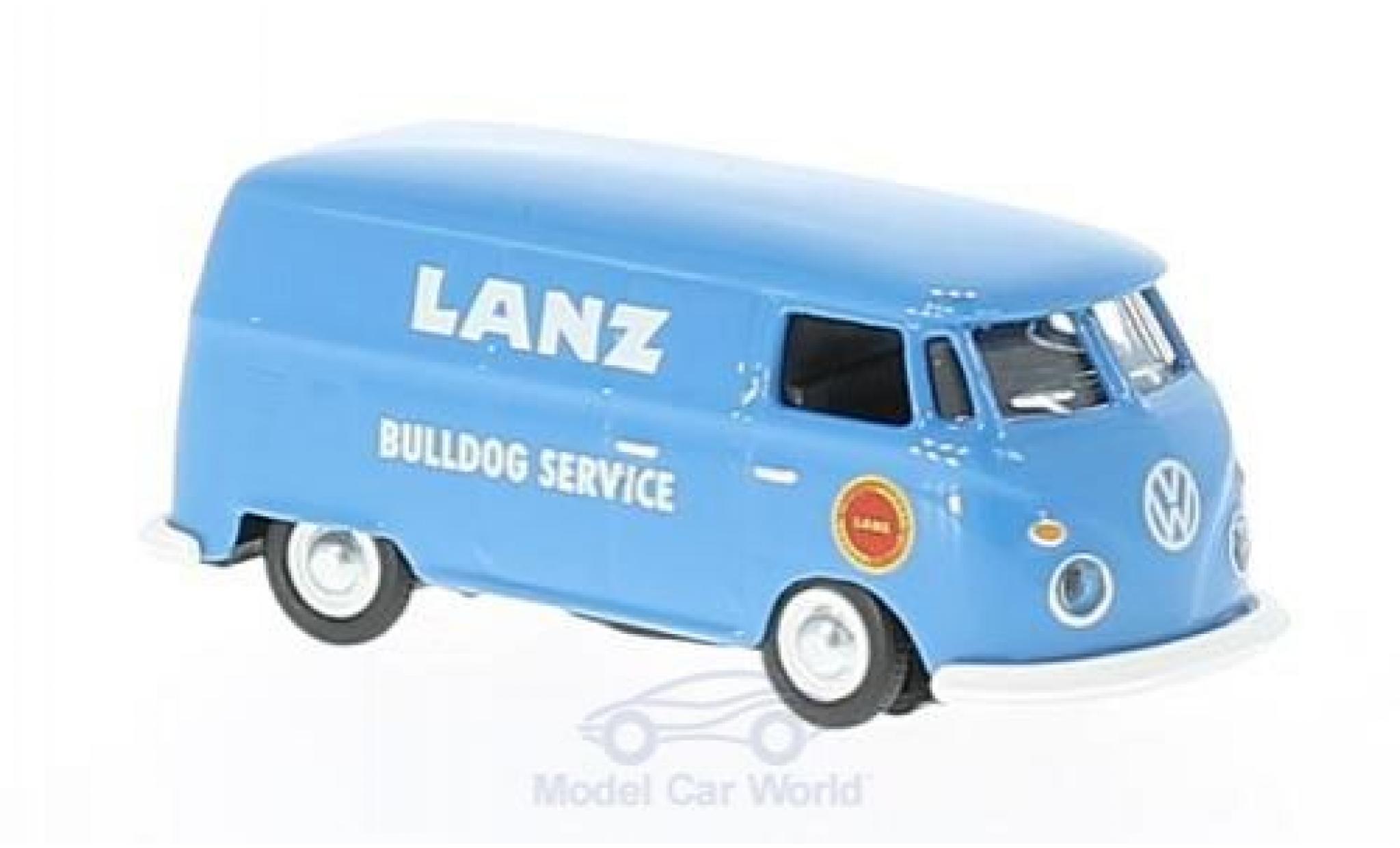 Volkswagen T1 B 1/87 Schuco c bleue Lanz ulldog Service Kastenwagen