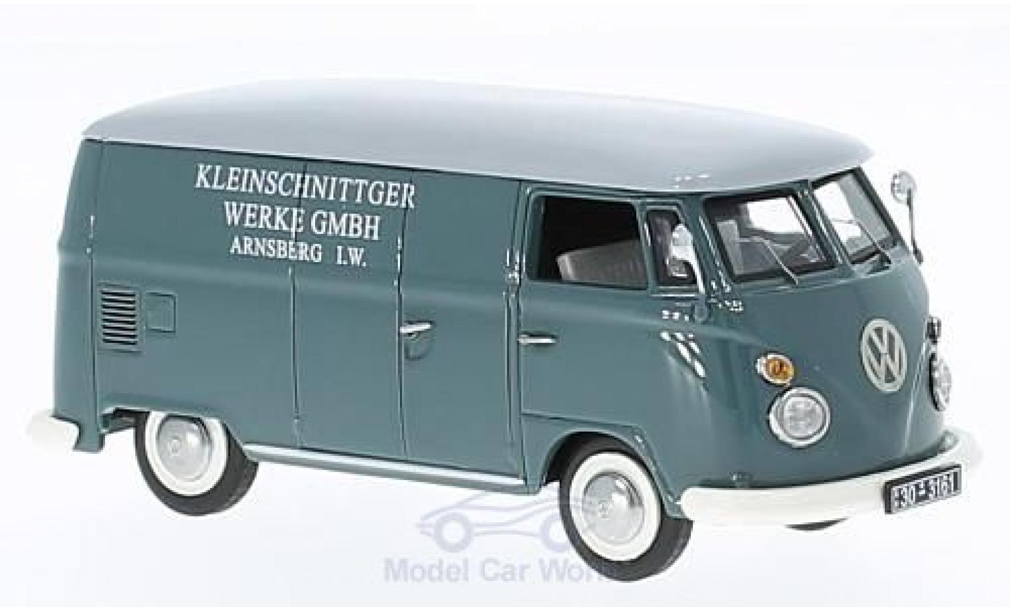Volkswagen T1 B 1/43 Schuco c Kleinschnittger Werke GmbH Kastenwagen mit Autohänger + Kleinschnittger