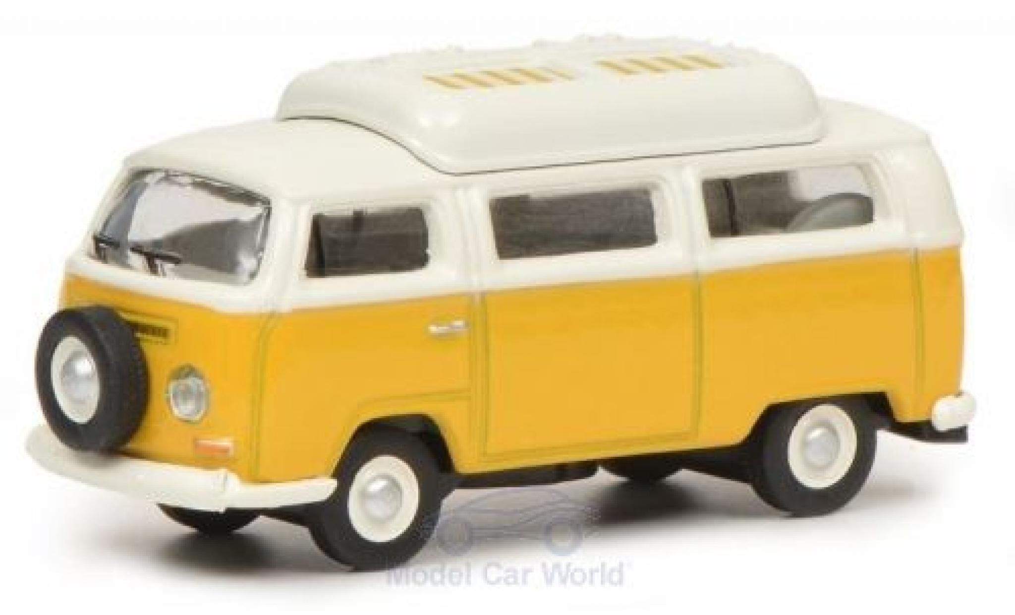 Volkswagen T2 1/87 Schuco a Camper yellow/white mit geschlossenem Dach