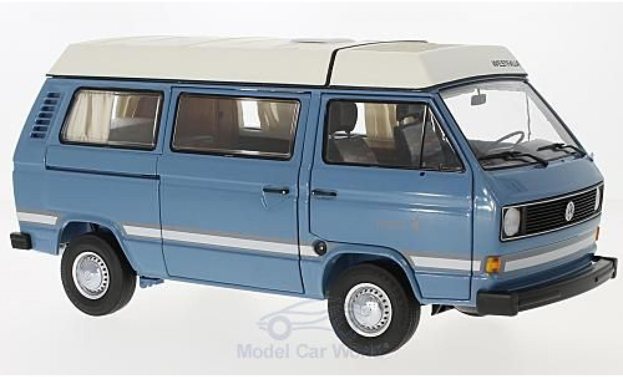 Volkswagen T3 B 1/18 Schuco a Westfalia Joker blue mit Faltdach