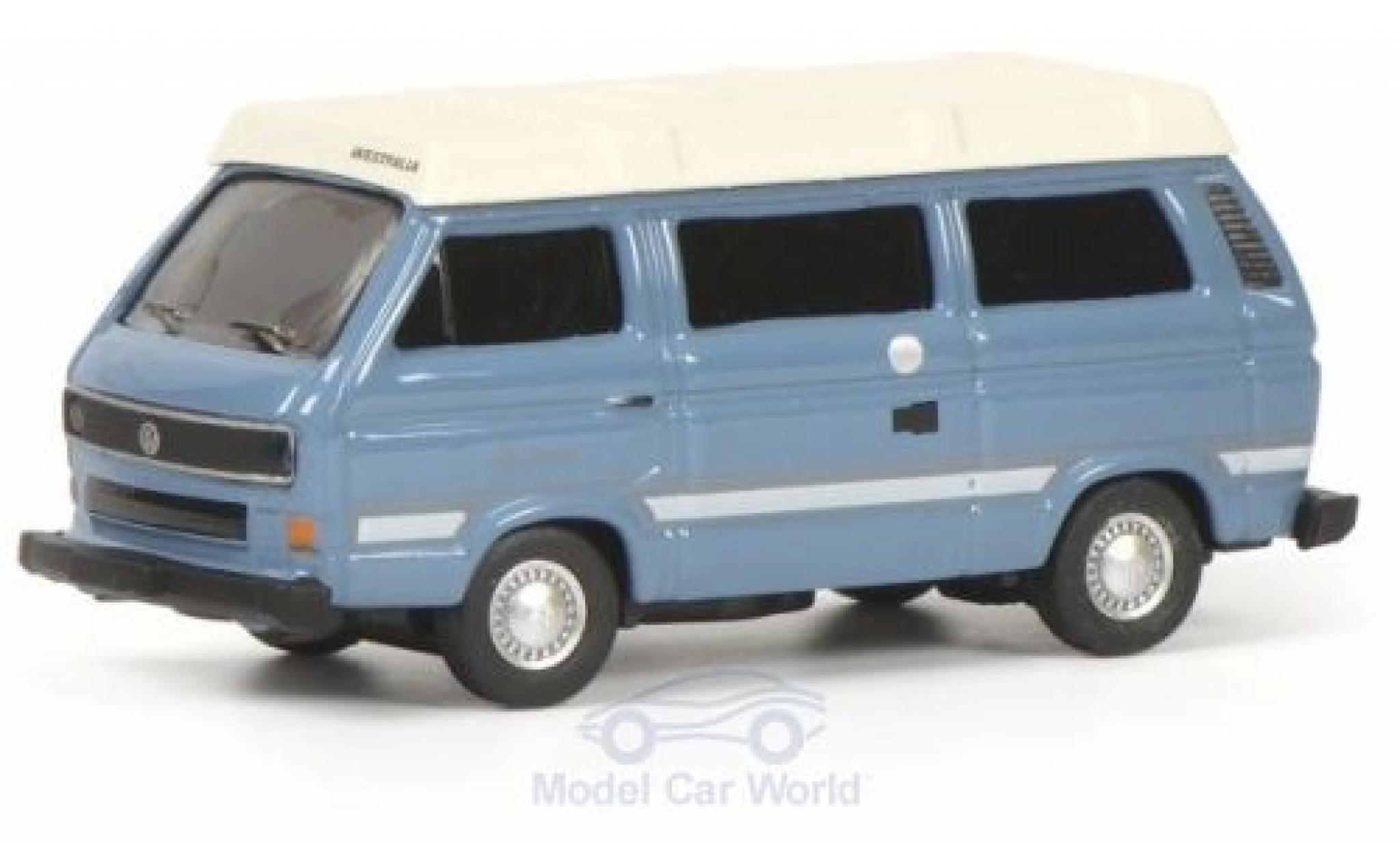 Volkswagen T3 1/87 Schuco b Westfalia Joker bleue/blanche
