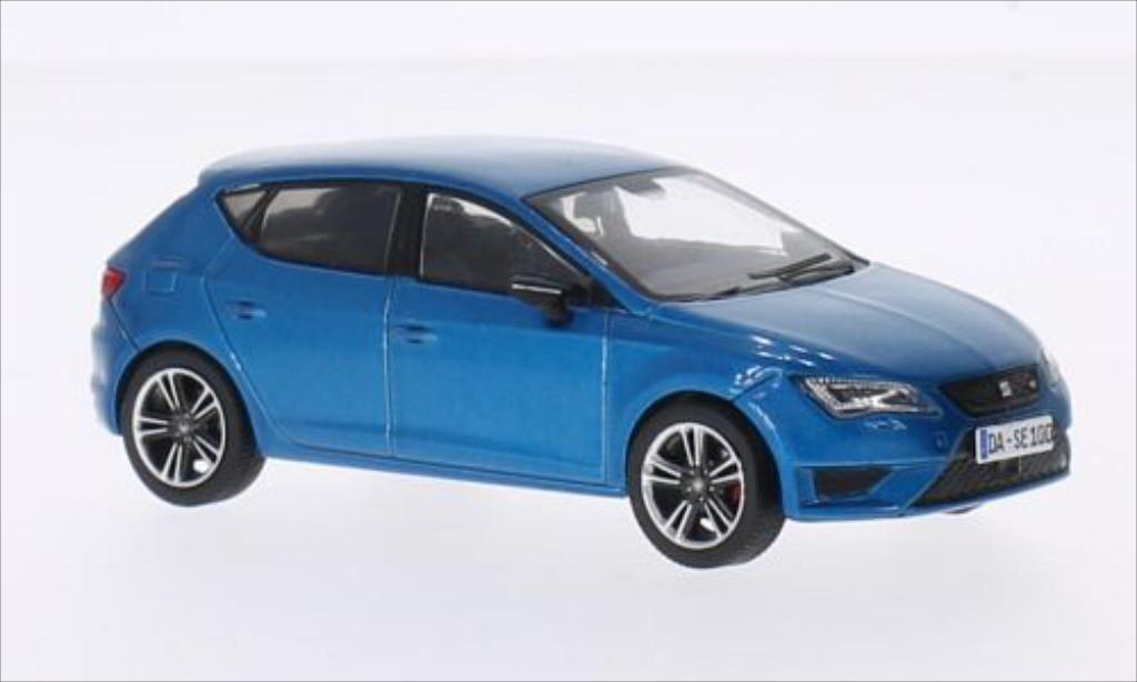 seat leon cupra 280 metallic blau 2014 mcw modellauto 1 43. Black Bedroom Furniture Sets. Home Design Ideas