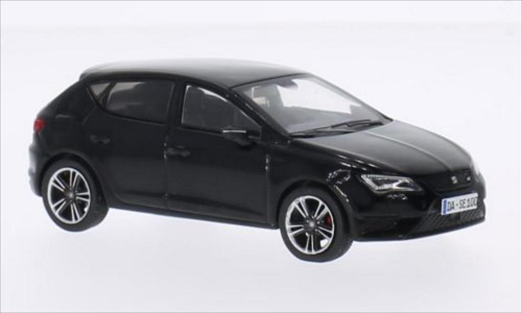 seat leon cupra 280 black 2014 mcw diecast model car 1 43. Black Bedroom Furniture Sets. Home Design Ideas