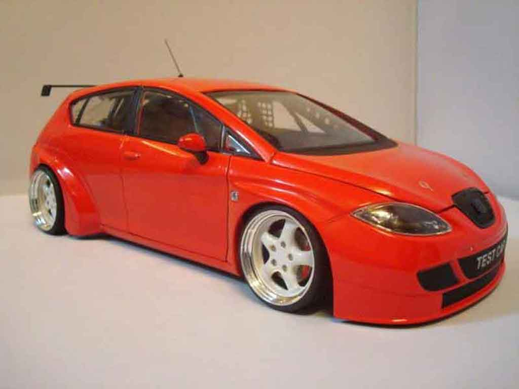 Seat Leon 1/18 Guiloy wtcc red tuning diecast model cars