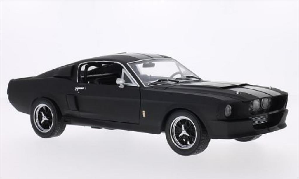 Shelby GT 1/18 Greenlight 500 matt-noire/noire 1967 miniature