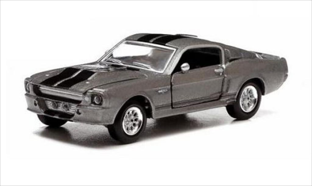 Shelby GT 1/64 Greenlight 500 metallic-grise/noire 1967 miniature