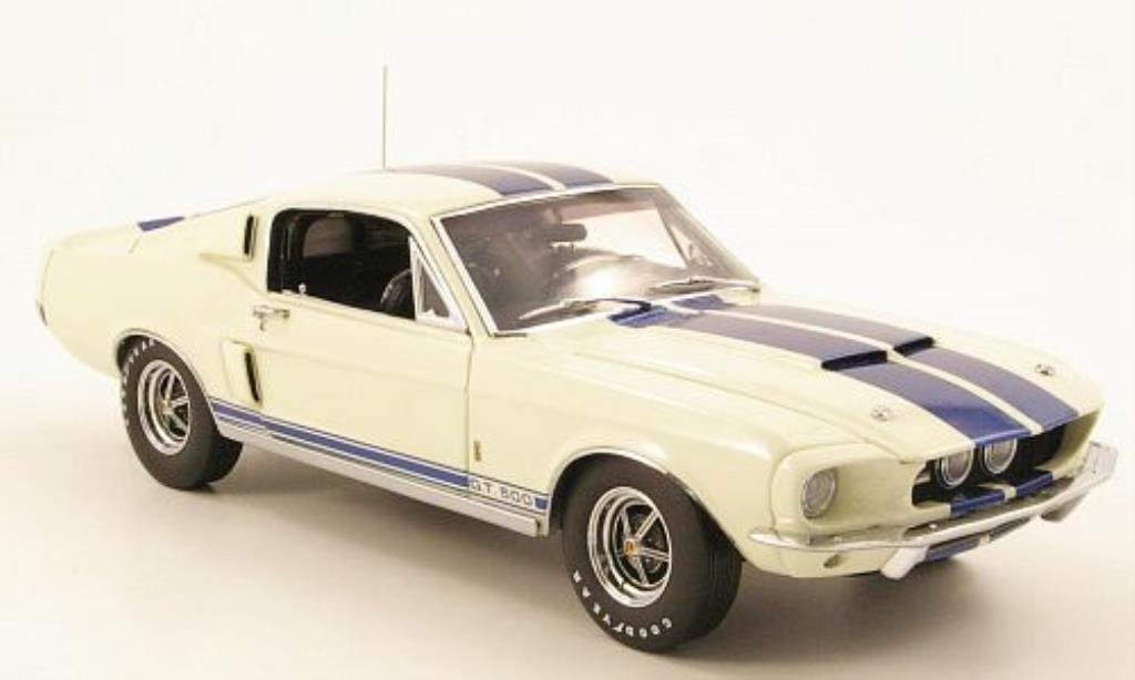 Shelby GT 500 1/24 GMP blanche/bleu 1967 miniature