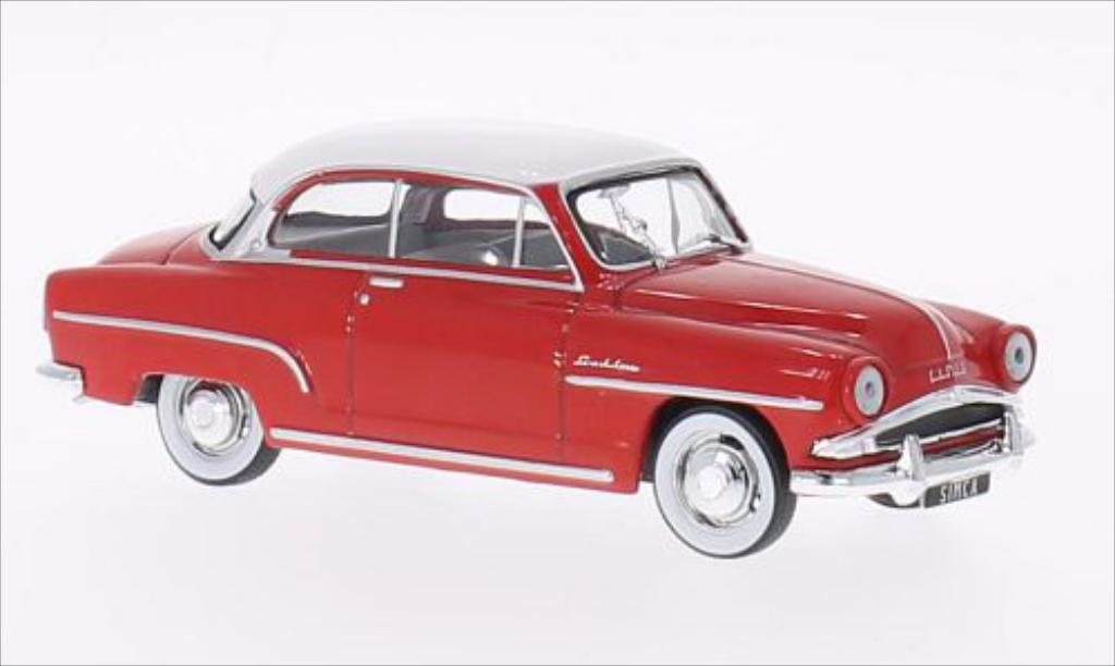 Simca Aronde 1/43 WhiteBox Grand Large rouge/blanche 1953 miniature