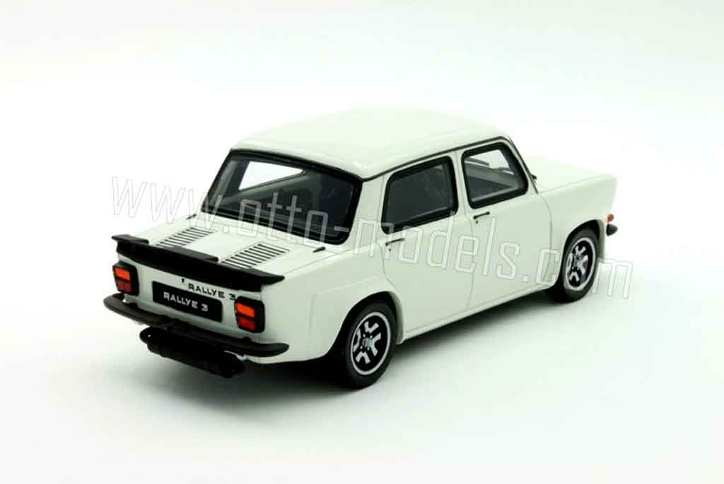 simca 1000 miniature rallye 3 blanche ottomobile 1 18 voiture. Black Bedroom Furniture Sets. Home Design Ideas