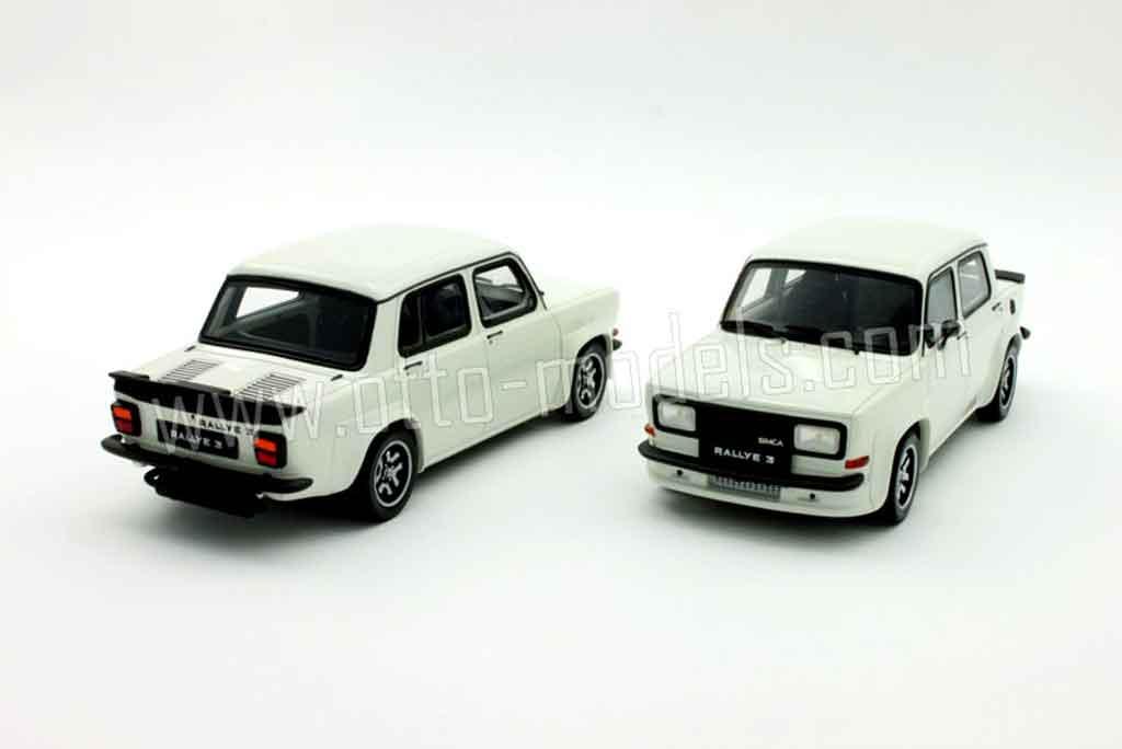 Simca 1000 1/18 Ottomobile rallye 3 white