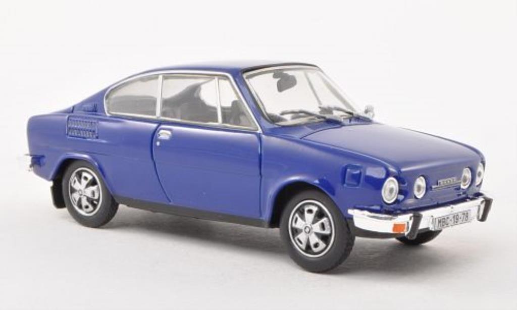 Skoda 110 1/43 Abrex R bleu miniature