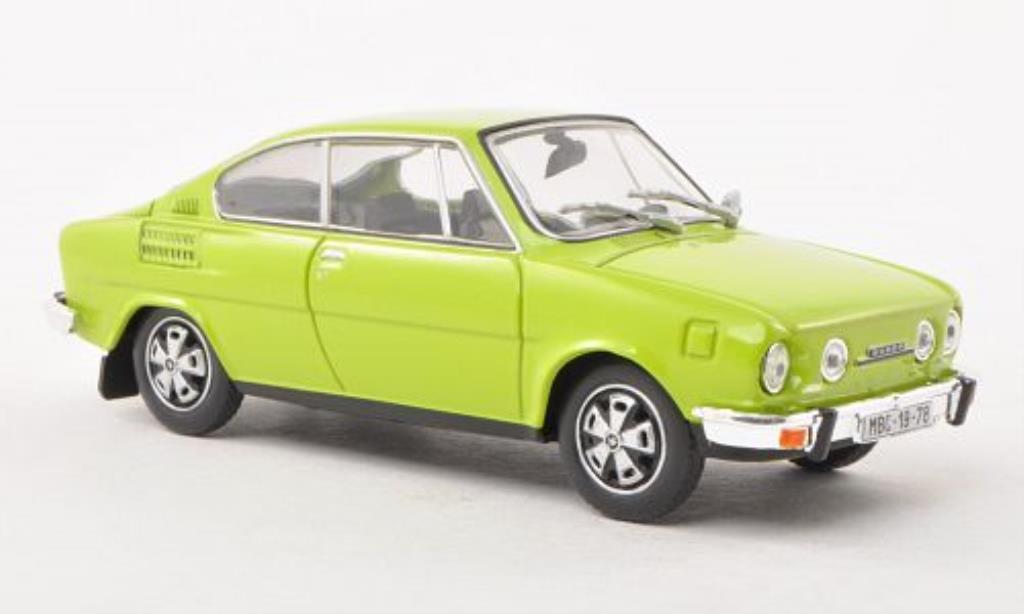 Skoda 110 1/43 Abrex R grun miniature