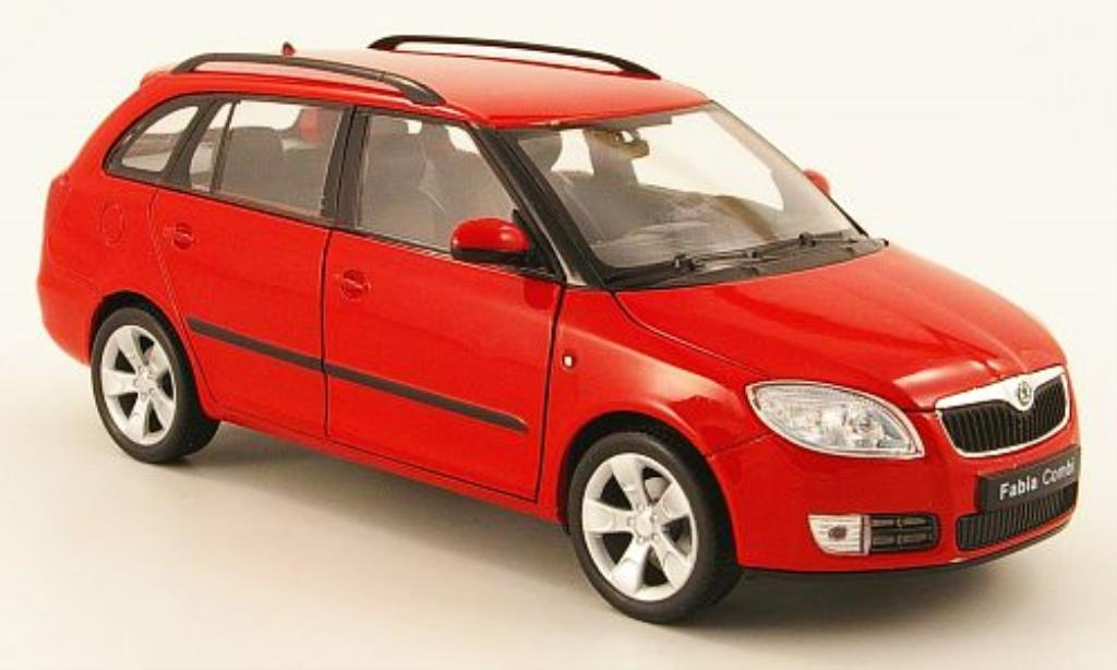 Skoda Fabia II 1/24 Welly II Combi rouge miniature
