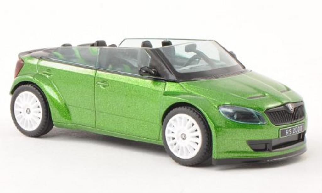 Skoda Fabia 1/43 Abrex 2000 Concept Car grun mit blancheen Felgen