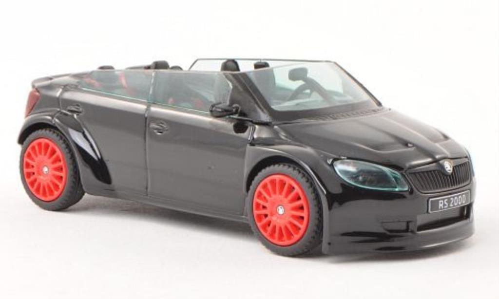 Skoda Fabia 1/43 Abrex 2000 Concept Car noire mit rougeen Felgen miniature