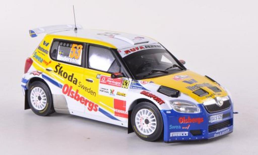 Skoda Fabia S2000 1/43 IXO No.53 Rufa Sport Rally Portugal 2010 miniature