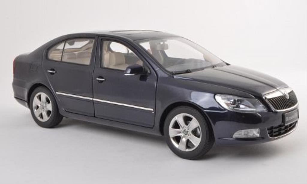 skoda octavia miniature bleu 2010 paudi 1 18 voiture. Black Bedroom Furniture Sets. Home Design Ideas