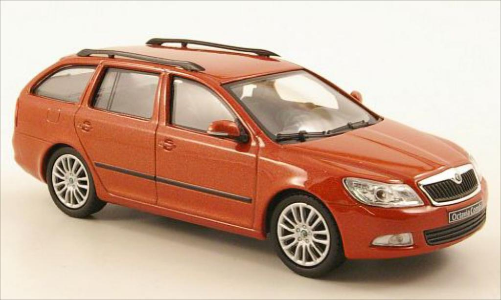 skoda octavia combi miniature metallic orange avia abrex 1 43 voiture. Black Bedroom Furniture Sets. Home Design Ideas