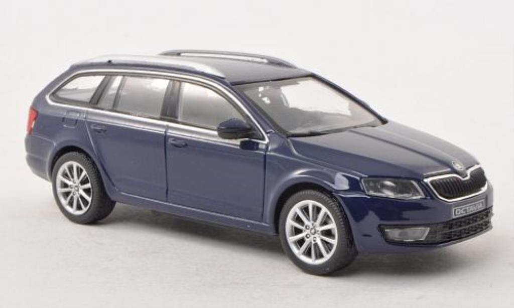 skoda octavia iii combi blue 2013 abrex diecast model car 1 43 buy sell diecast car on. Black Bedroom Furniture Sets. Home Design Ideas