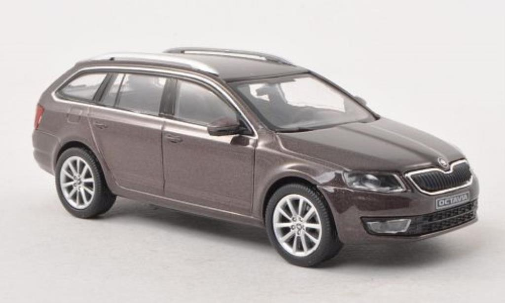 skoda octavia iii combi braun 2013 abrex modellauto 1 43 kaufen verkauf modellauto online. Black Bedroom Furniture Sets. Home Design Ideas