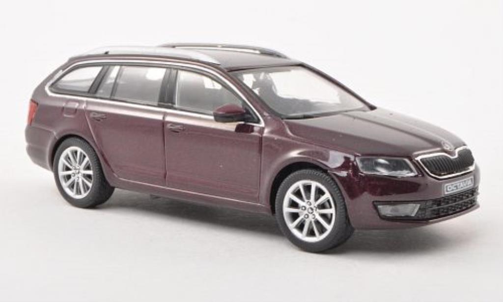 skoda octavia iii combi red 2013 abrex diecast model car 1 43 buy sell diecast car on. Black Bedroom Furniture Sets. Home Design Ideas