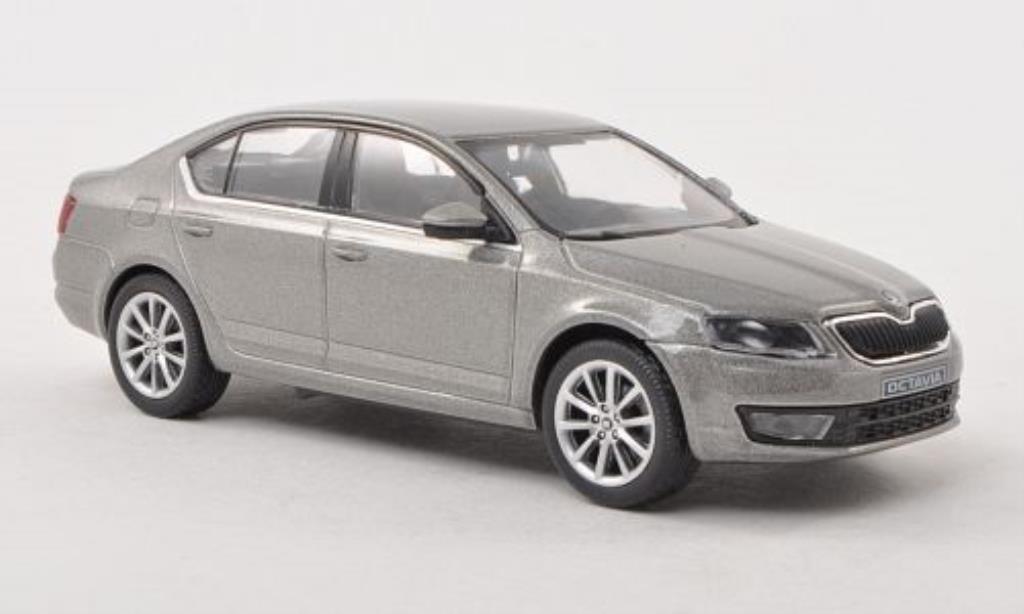 Skoda Octavia 1/43 Abrex III grise-beige 2013 miniature