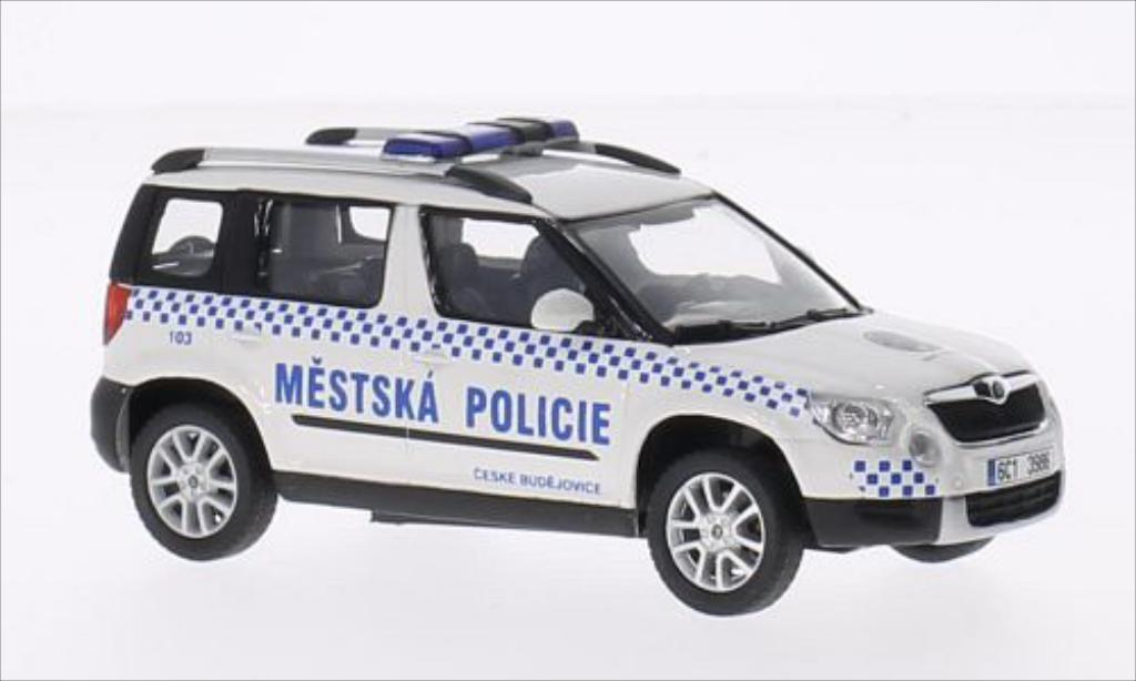 skoda yeti miniature mestska policie abrex 1 43 voiture. Black Bedroom Furniture Sets. Home Design Ideas