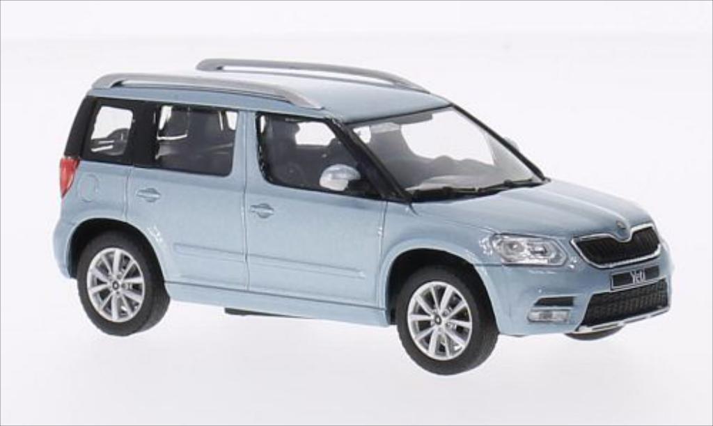 skoda yeti metallic blau 2013 abrex modellauto 1 43. Black Bedroom Furniture Sets. Home Design Ideas