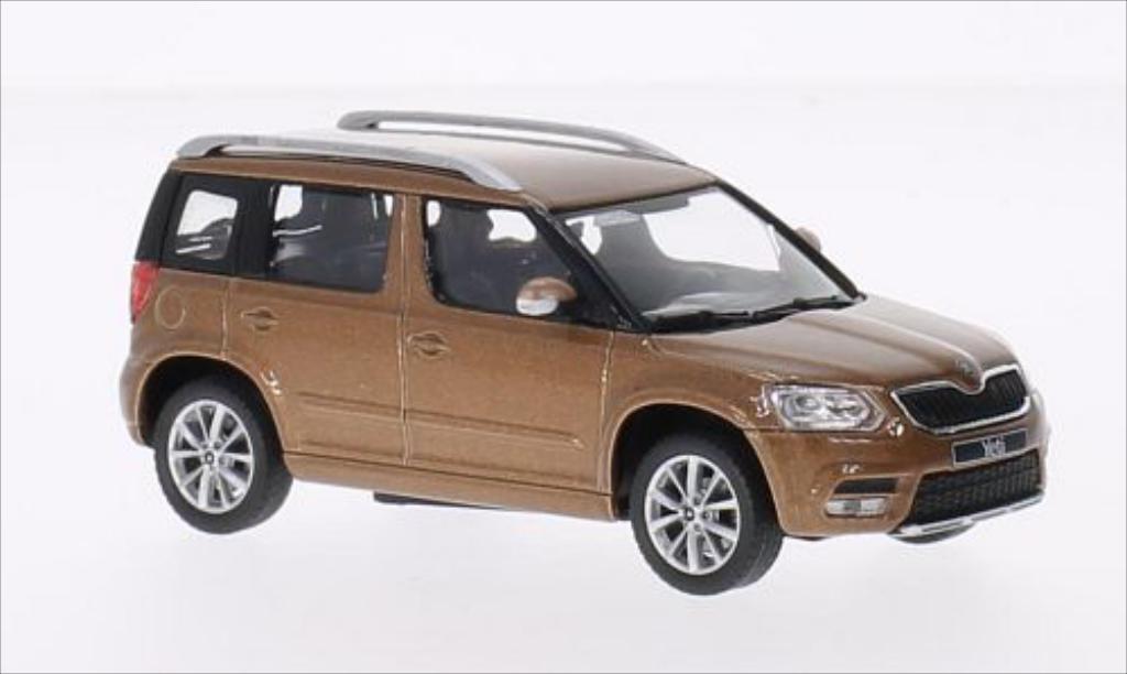 skoda yeti metallic braun 2013 abrex modellauto 1 43. Black Bedroom Furniture Sets. Home Design Ideas