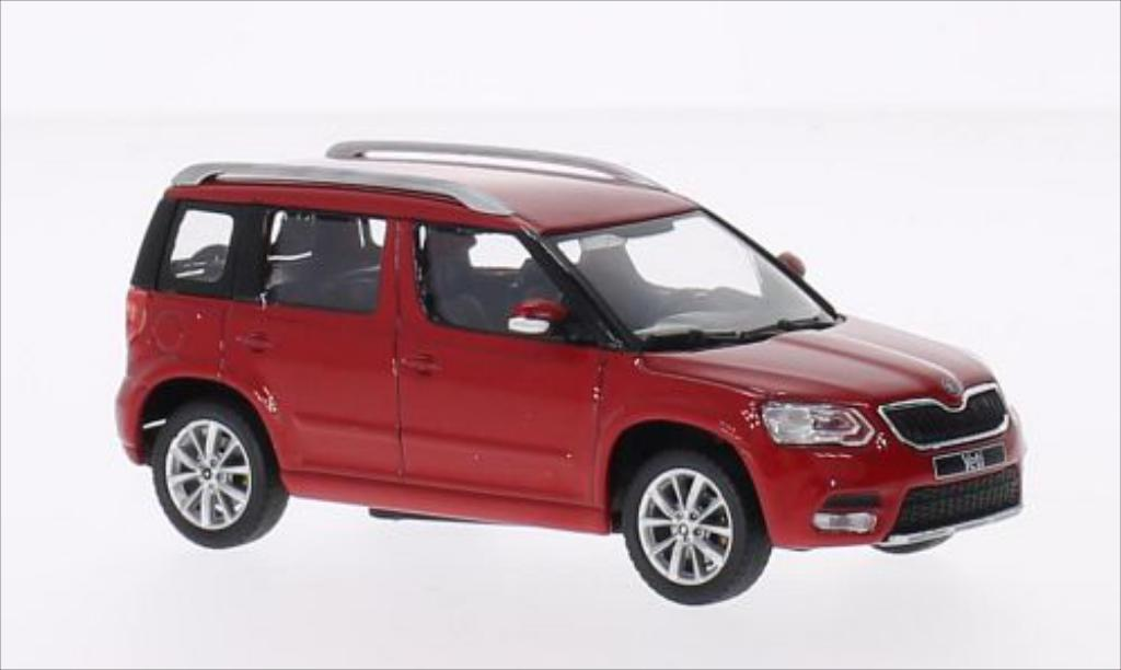 skoda yeti miniature rouge 2013 abrex 1 43 voiture. Black Bedroom Furniture Sets. Home Design Ideas