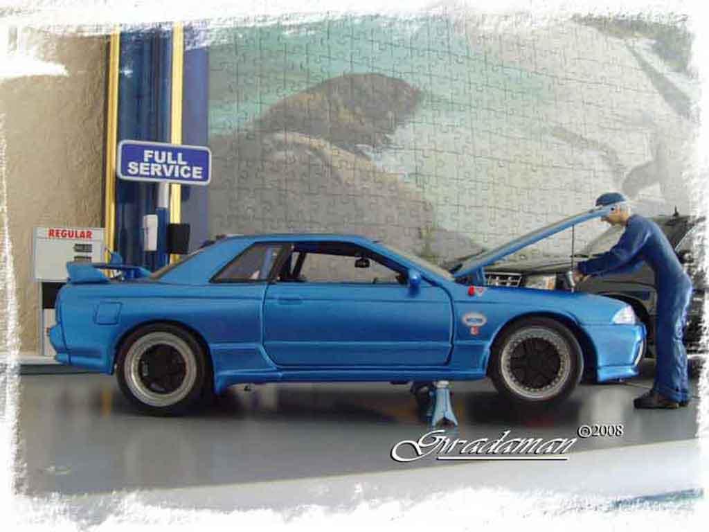 Nissan Skyline R32 1/18 Autoart drag run