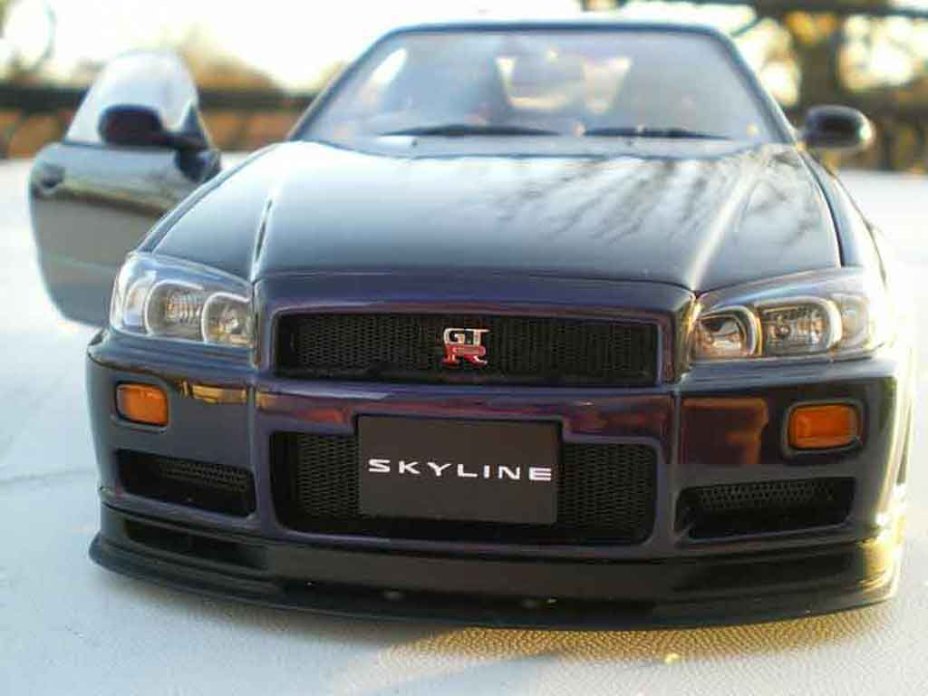 Nissan Skyline R34 1/18 Autoart purple racing jantes 20 pouces