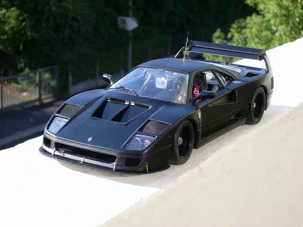 Ferrari F40 LM 1/18 Polistil black tuning diecast model cars