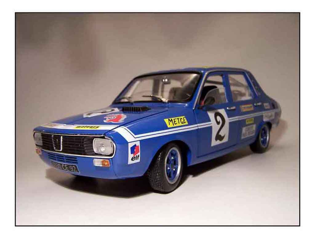Renault 12 Gordini 1/18 Solido rallye preparee tuning diecast model cars