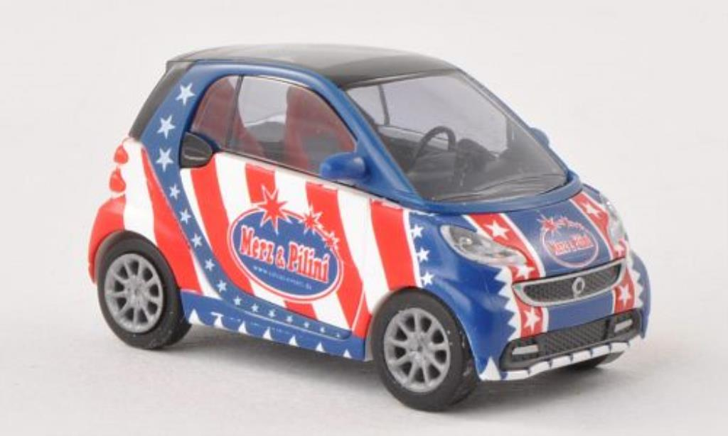 Smart Fortwo coupe 1/87 Busch Merz & Pilini 2012 miniature