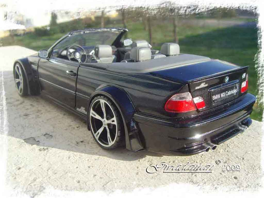 bmw m3 e46 gtr miniature cabriolet ac schnitzer minichamps 1 18 voiture. Black Bedroom Furniture Sets. Home Design Ideas