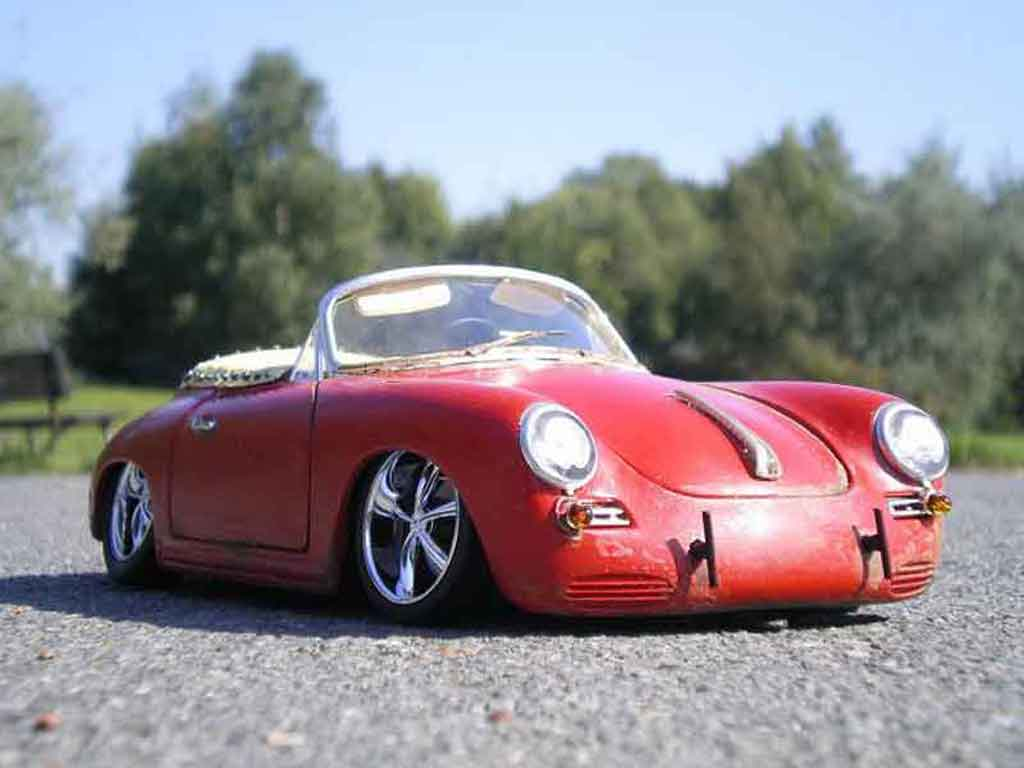 Porsche 356 1/18 Burago old school tuning miniature