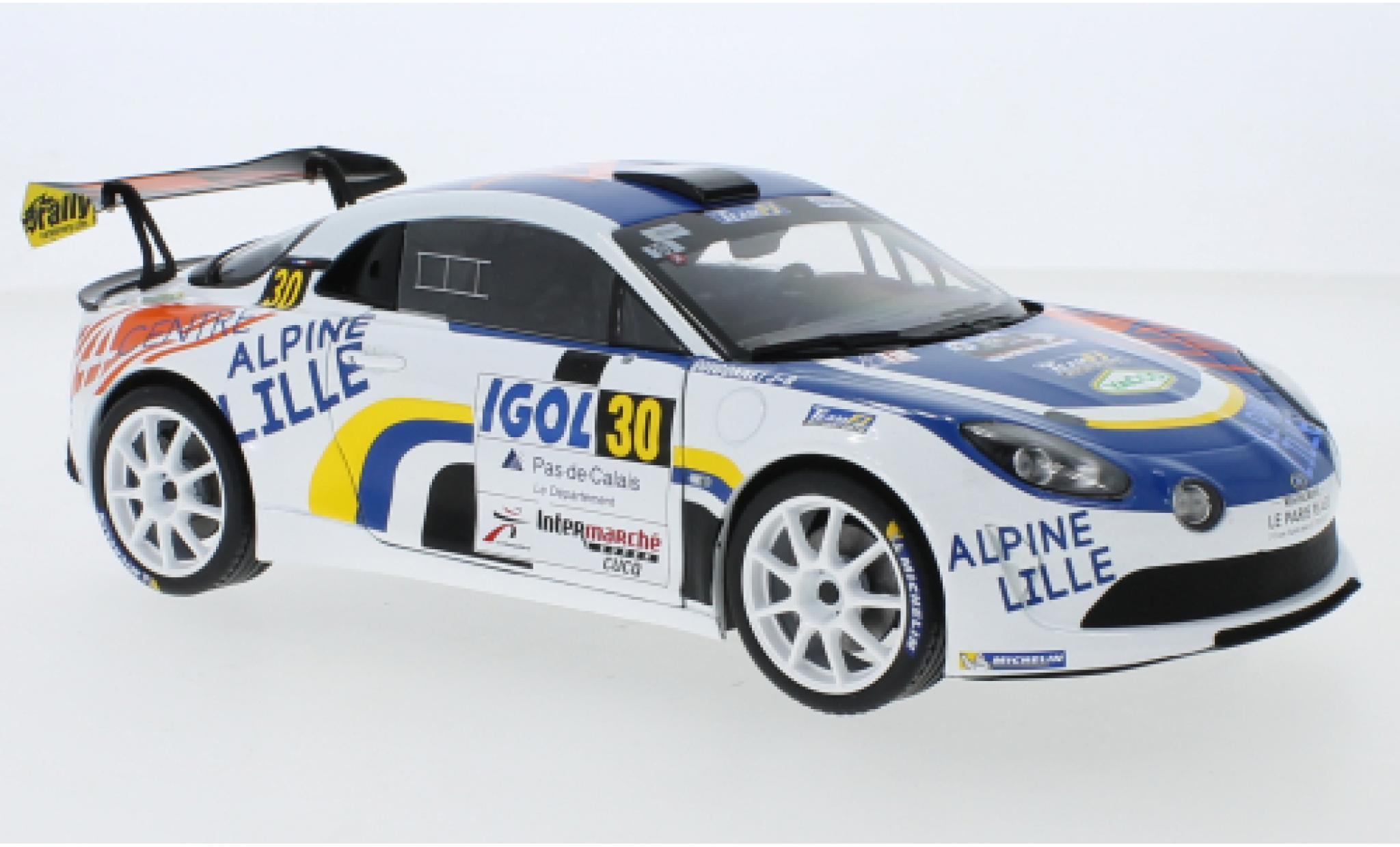 Alpine A110 1/18 Solido RGT No.30 Rallye du Touquet 2020 F.Delecour