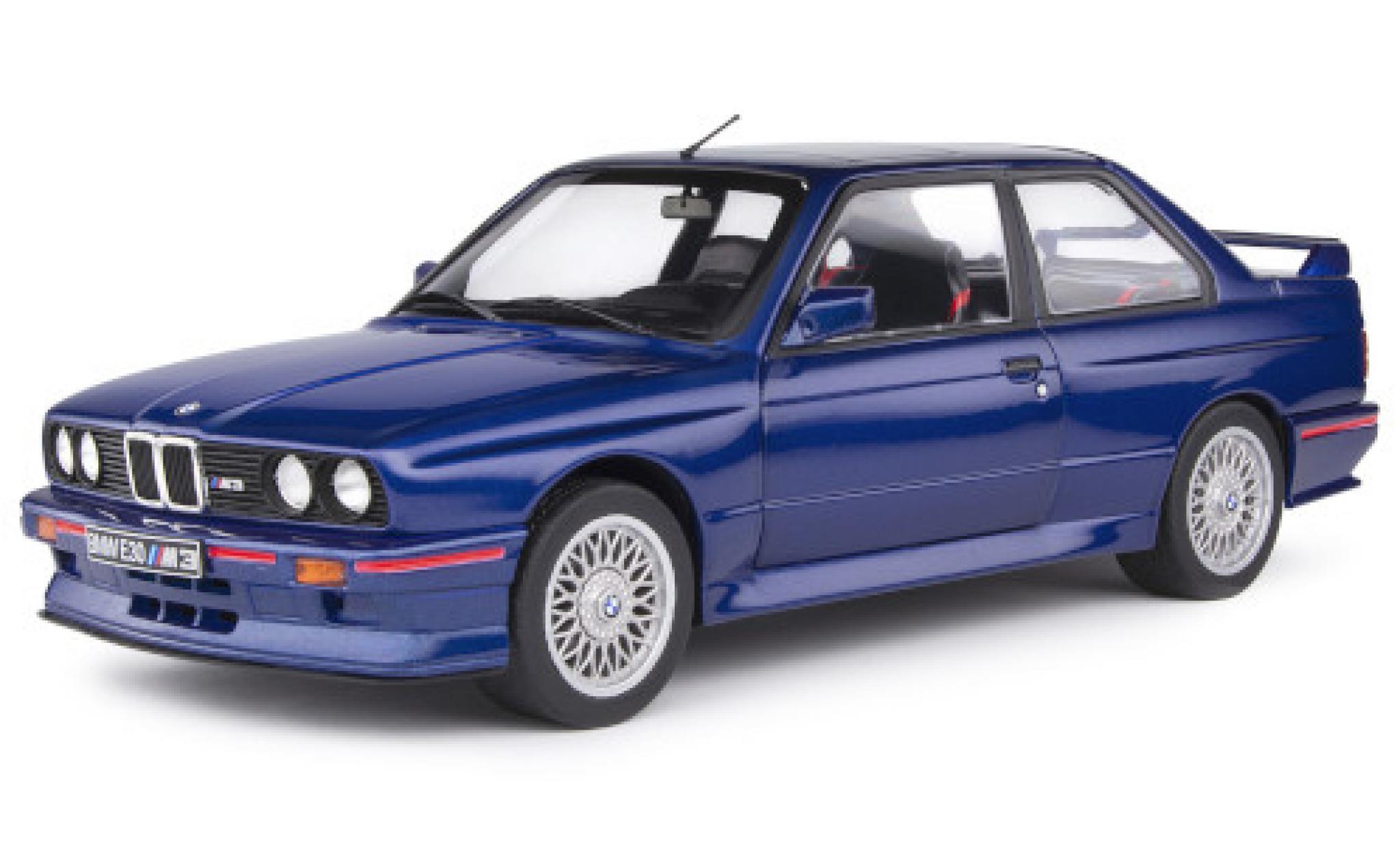 Bmw M3 1/18 Solido (E30) metallise bleue/Dekor 1990 y compris les Decals