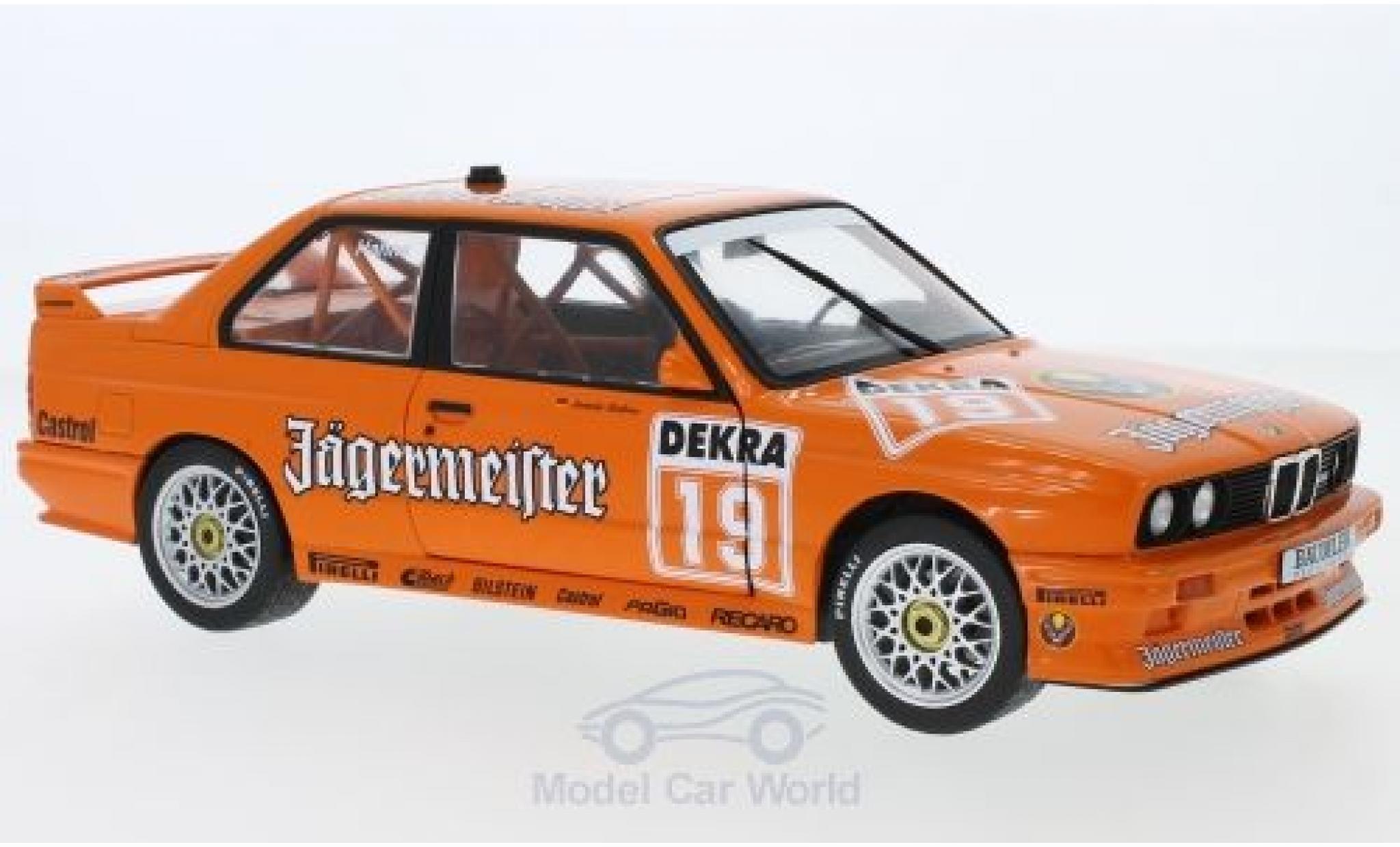 Bmw M3 1/18 Solido (E30) No.19 Linder Jägermeister DTM 1992 A.Hahne