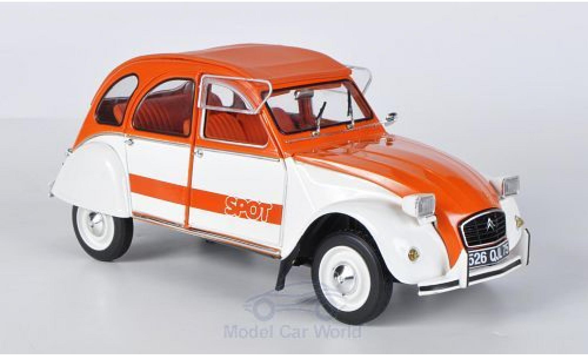 Citroen 2CV 1/18 Solido Spot orange/blanche 1976
