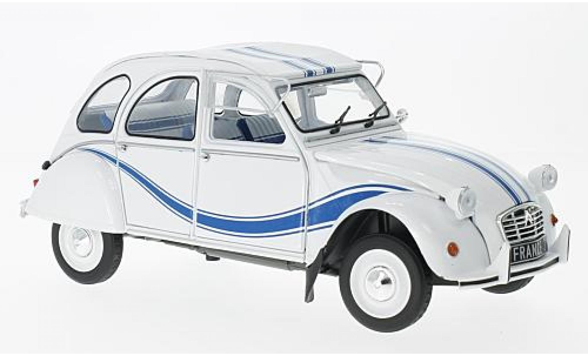 Citroen 2CV 1/18 Solido 6 France 3 white/blue 1983