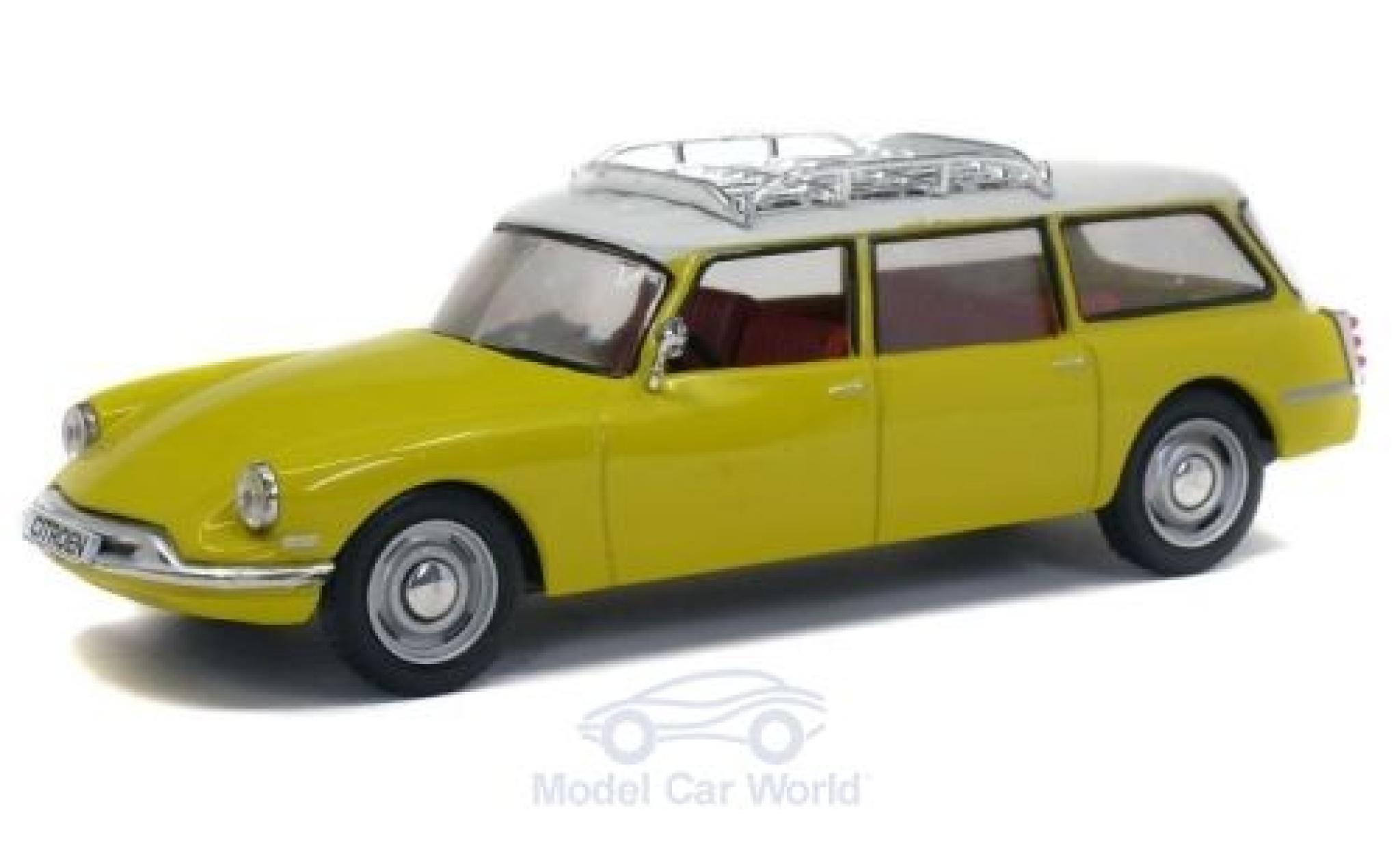 Citroen DS 1/43 Solido 19 Break jaune/blanche 1960