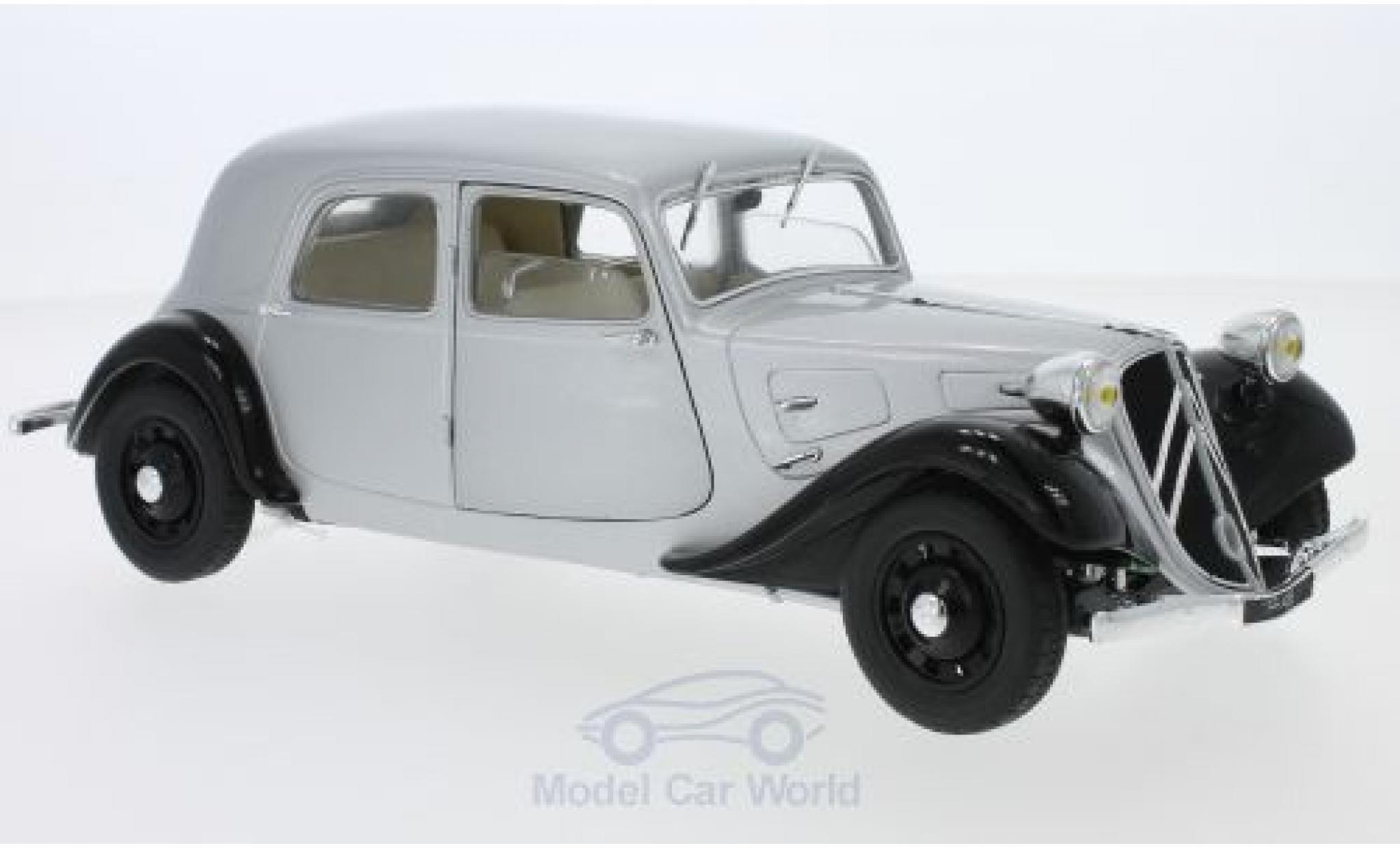 Citroen Traction 1/18 Solido 11CV grise/noire 1937