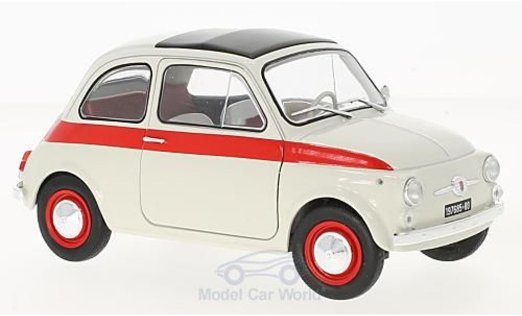 Fiat 500 Sport 1/18 Solido L Sport bianco/rosso 1960