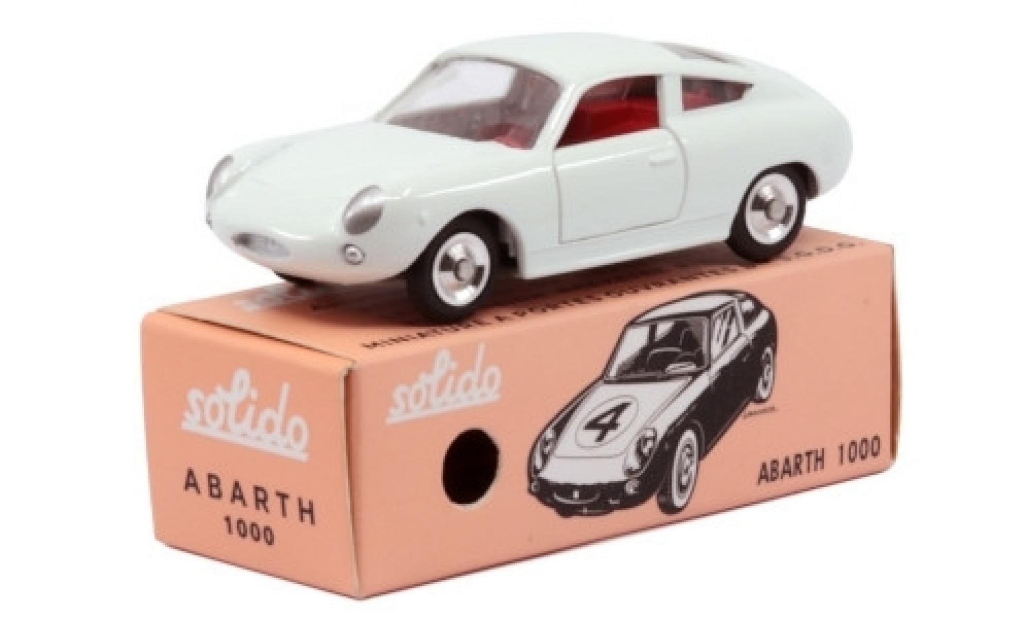 Fiat Abarth 1000 1/43 Solido Bialbero white 1966