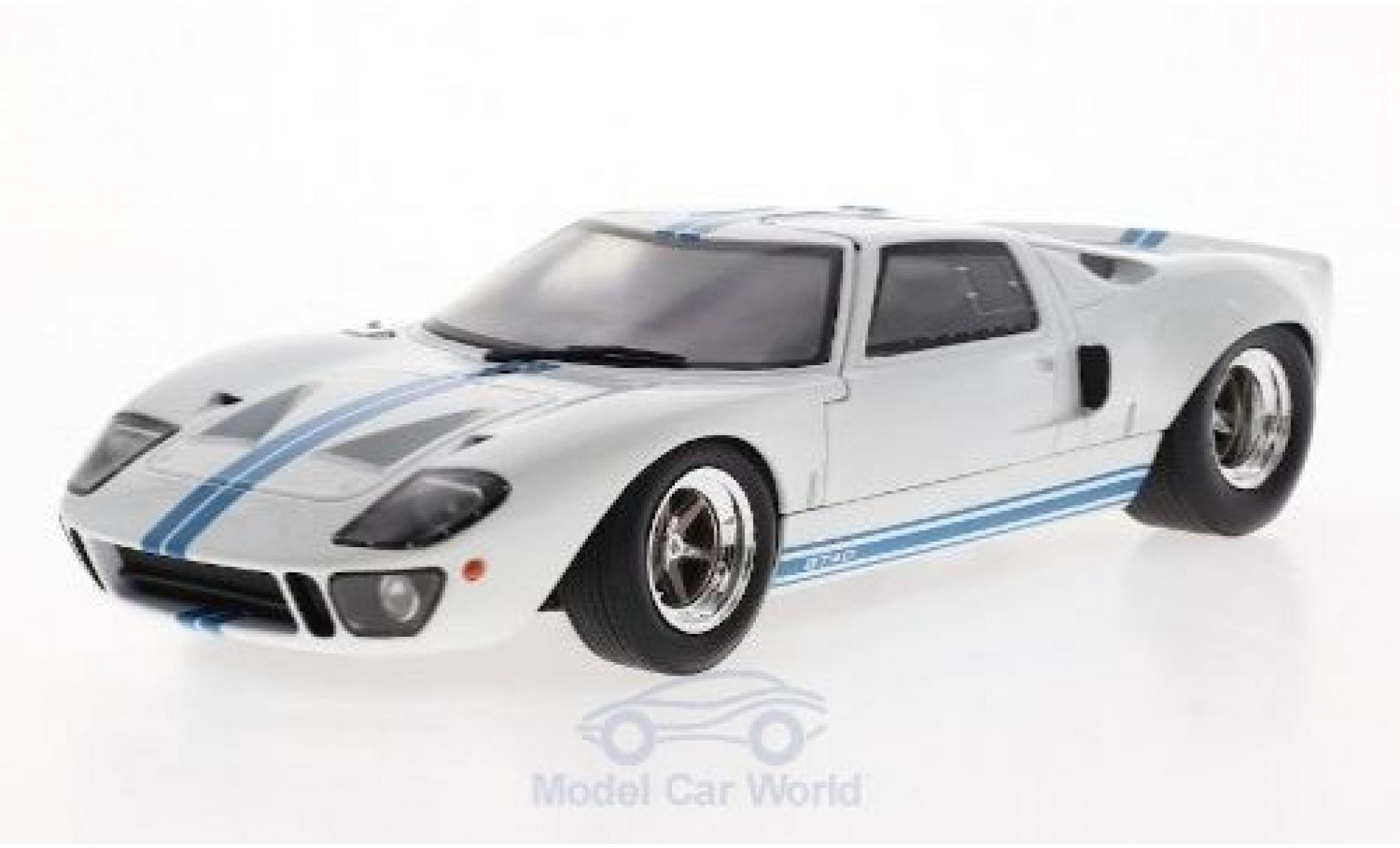 Ford GT40 1/18 Solido MK I blanche/bleue 1968