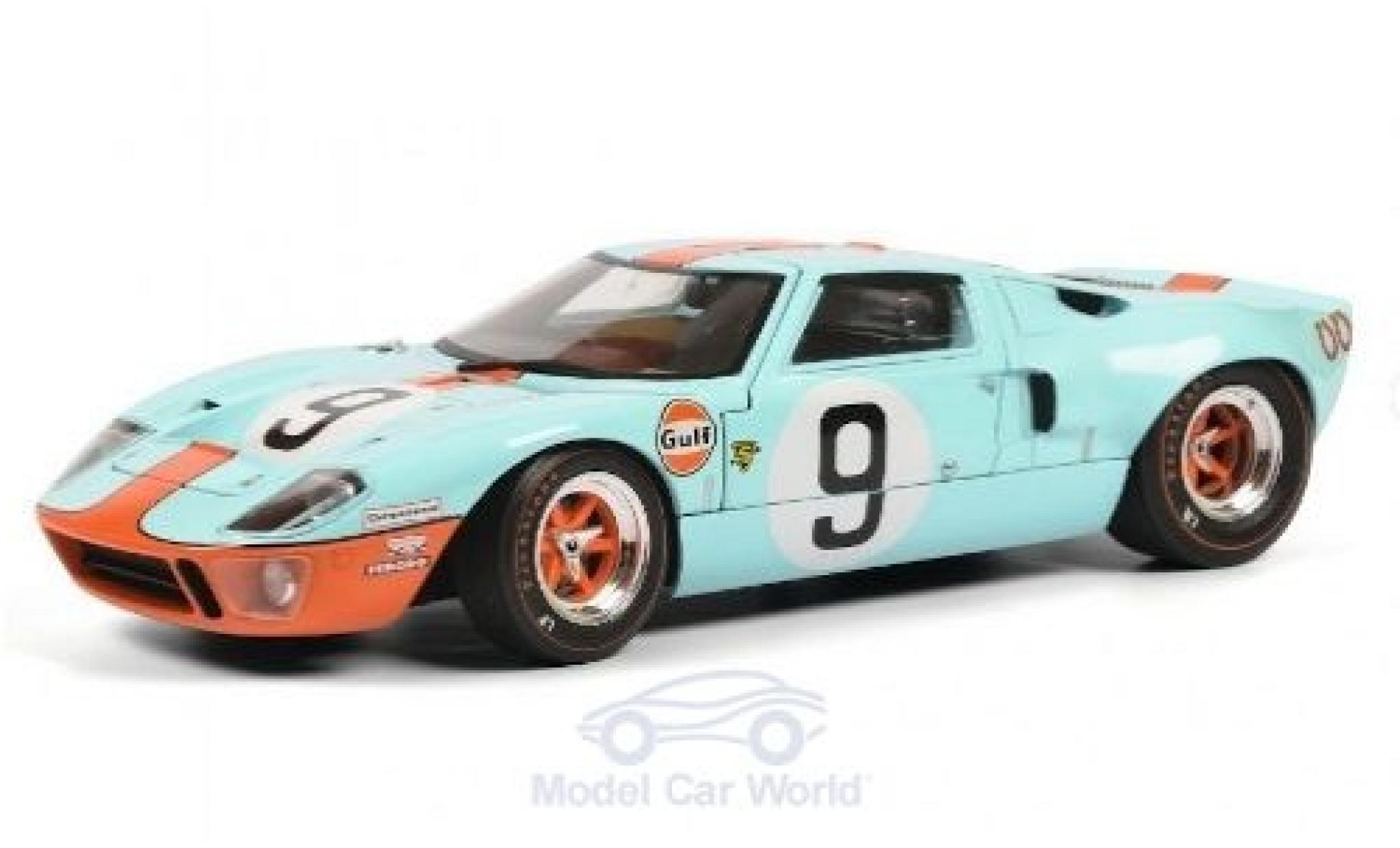 Ford GT40 1/18 Solido No.9 Gulf 24h Le Mans 1968 P.Rodriguez/L.Bianchi