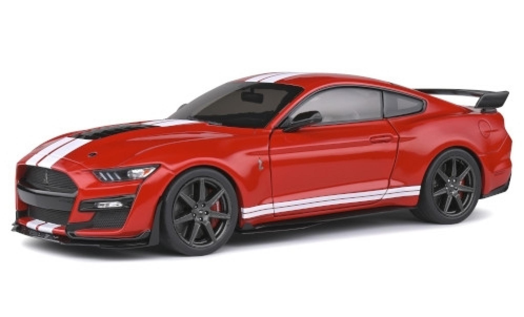 Ford Mustang 1/18 Solido Shelby GT 500 Fast Track rouge/matt-blanche 2020