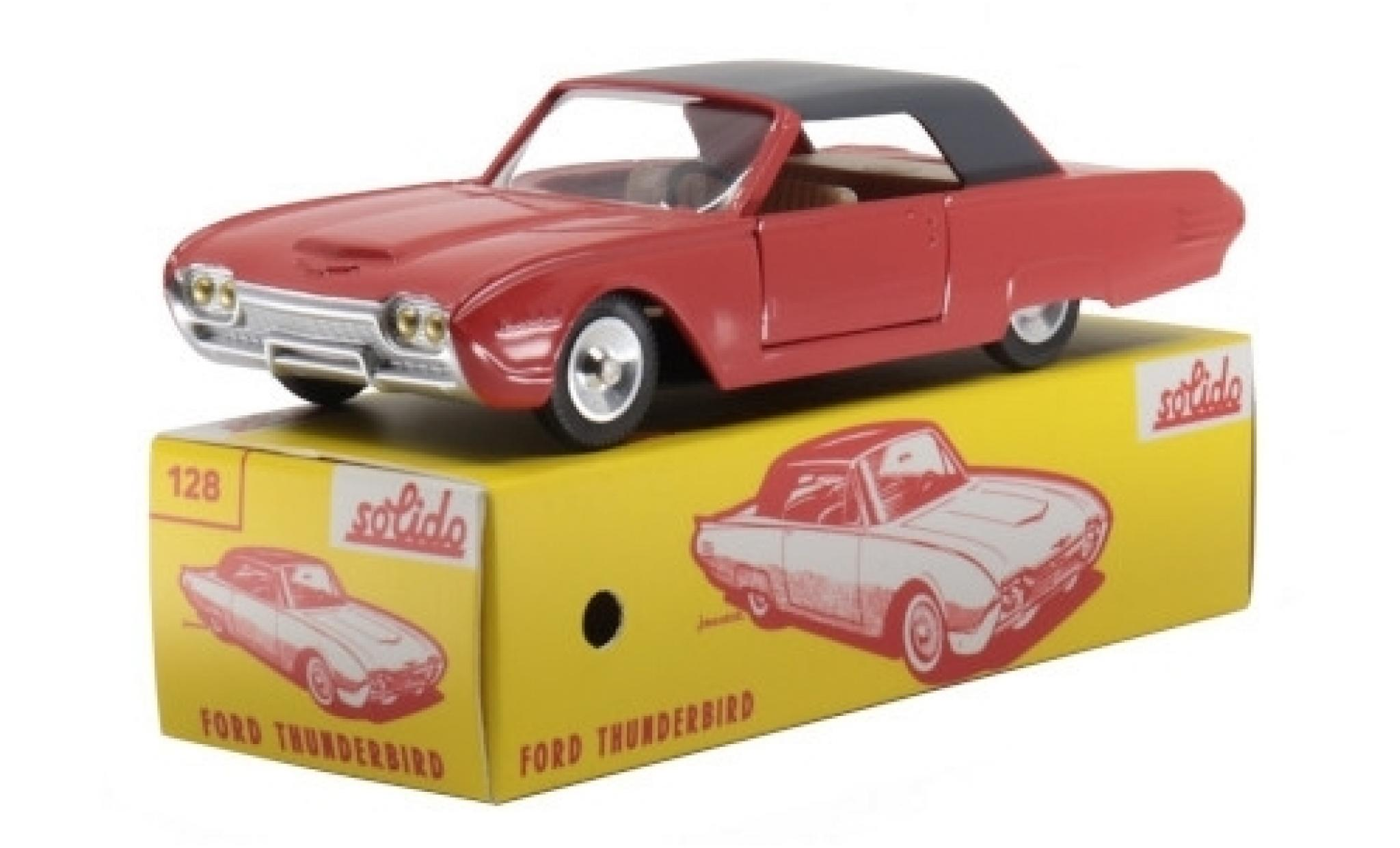 Ford Thunderbird 1/43 Solido Hardtop orange/grey 1963